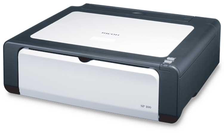 Máy in Ricoh SP100, Laser trắng đen