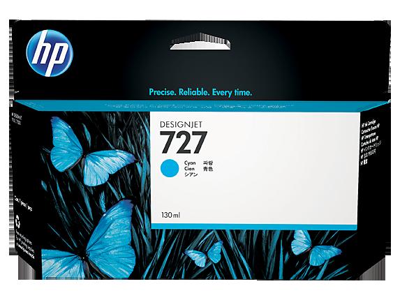 Mực in HP 727 130-ml Cyan Designjet Ink Cartridge (B3P19A)